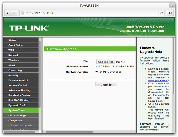 Installing dd-wrt on the tp-link tl-wr841n.